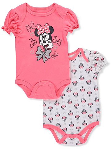 Disney Minnie Mouse Baby Girls' 2-Pack Bodysuits - CookiesKids.com