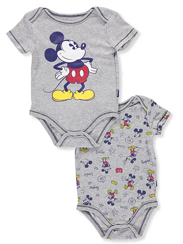 Disney Mickey Mouse Baby Boys' 2-Pack Bodysuits - CookiesKids.com
