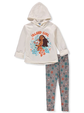 Disney Moana Girls' 2-Piece Leggings Set Outfit - CookiesKids.com