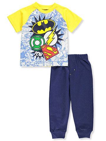 Justice League Boys' 2-Piece Pants Set Outfit - CookiesKids.com