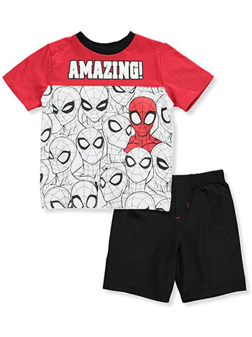 Spider-Man Boys' 2-Piece Shorts Set Outfit - CookiesKids.com