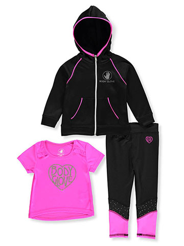 Body Glove Baby Girls' 3-Piece Leggings Set Outfit - CookiesKids.com