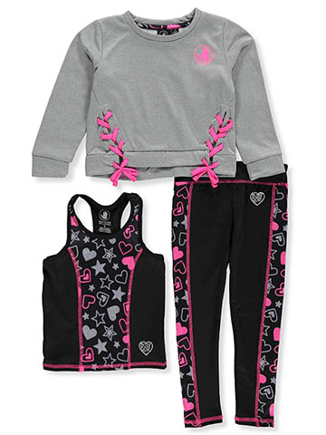 Body Glove Girls' 3-Piece Leggings Set Outfit - CookiesKids.com