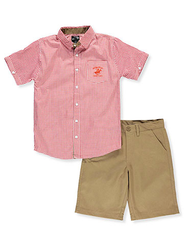 Beverly Hills Polo Club Boys' 2-Piece Short Set Outfit - CookiesKids.com