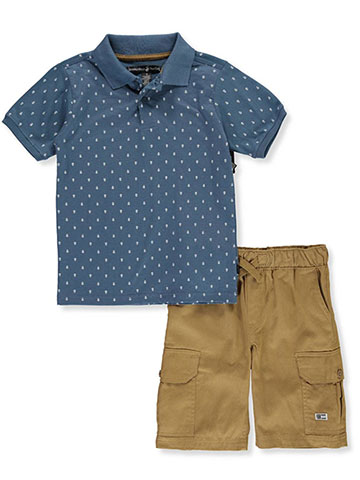 U.S. Polo Assn. Boys' 2-Piece Shorts Set Outfit - CookiesKids.com