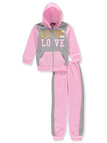 Coney Island Girls' 2-Piece Sweatsuit Pants Set - CookiesKids.com