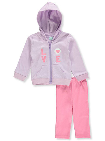 Euro Baby Baby Girls' 2-Piece Pants Set Outfit - CookiesKids.com