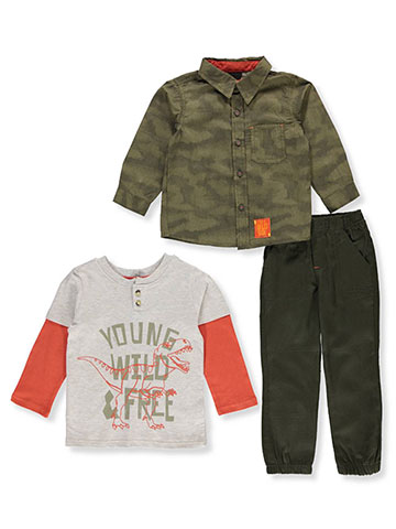 Little Rebels Boys' 3-Piece Pants Set Outfit - CookiesKids.com