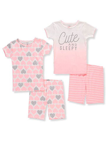 Carter's Girls' 4-Piece Pajamas - CookiesKids.com