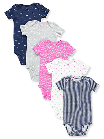Carter's Baby Girls' 5-Pack Bodysuits - CookiesKids.com