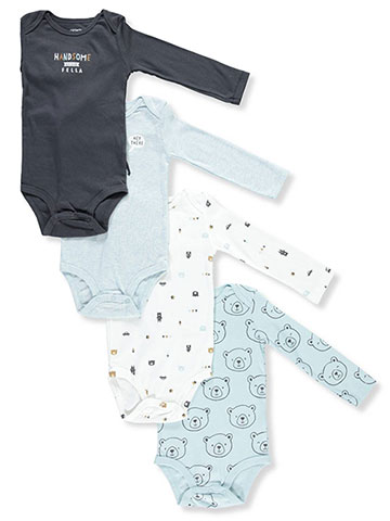 Carter's Baby Boys' 4-Pack L/S Bodysuits - CookiesKids.com