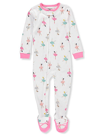 Carter's Baby Girls' 1-Piece Footed Pajamas - CookiesKids.com