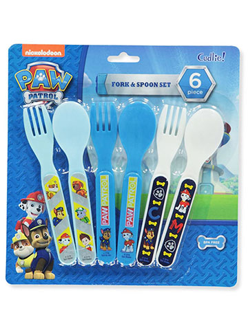 Paw Patrol 6-Piece Fork & Spoon Set - CookiesKids.com