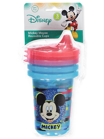 Disney Mickey Mouse 3-Pack Reusable Cups (10 oz.) - CookiesKids.com