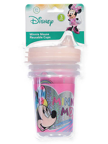 Disney Minnie Mouse 3-Pack Reusable Cups (10 oz.) - CookiesKids.com