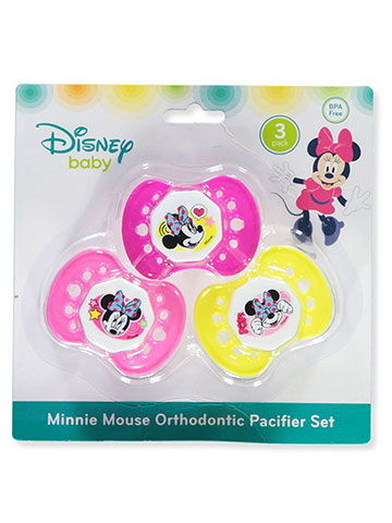 Disney Minnie Mouse 3-Pack Orthodontic Pacifier Set - CookiesKids.com