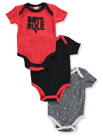 Little Beginnings Baby Boys' 3-Pack Bodysuits - CookiesKids.com