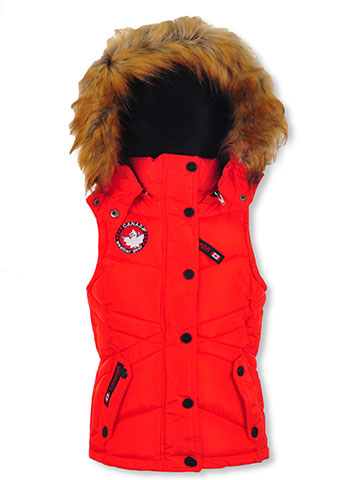 Canada Weather Gear Girls' Insulated Hooded Vest - CookiesKids.com