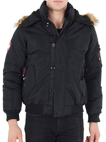 Canada Weather Gear Men's Insulated Flight Jacket - CookiesKids.com