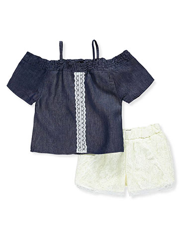 Dollhouse Girls' 2-Piece Short Set Outfit - CookiesKids.com