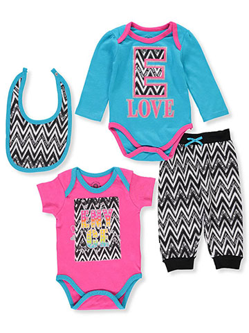 Enyce Baby Girls' 4-Piece Layette Set - CookiesKids.com