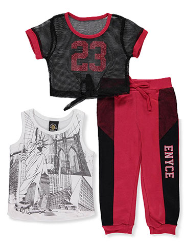 Enyce Baby Girls' 3-Piece Pants Set Outfit - CookiesKids.com