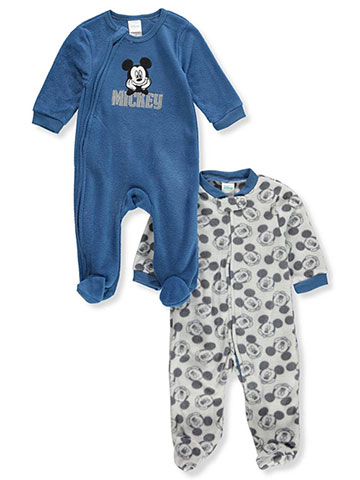 Disney Mickey Mouse Baby Boys' 2-Pack Footed Coveralls - CookiesKids.com