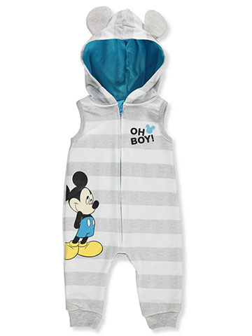 Disney Mickey Mouse Baby Boys' Hooded Coverall - CookiesKids.com