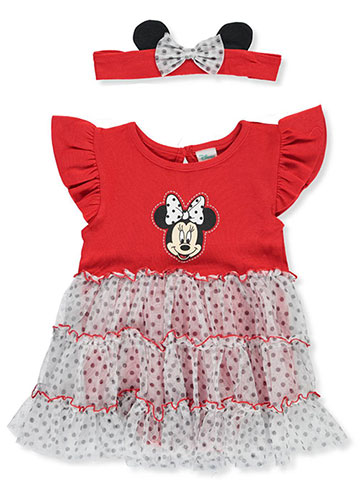 Disney Minnie Mouse Dress/Bodysuit Combo with Headband - CookiesKids.com