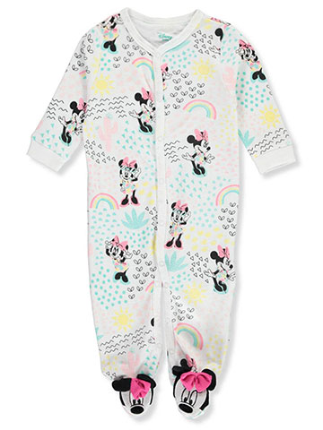 Disney Minnie Mouse Baby Girls' Footed Coverall - CookiesKids.com