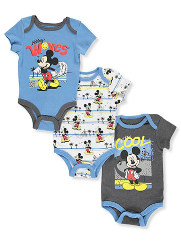 Disney Mickey Mouse Baby Boys' 3-Pack Bodysuits - CookiesKids.com