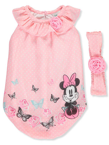 Disney Minnie Mouse Girls' Dress with Headband - CookiesKids.com