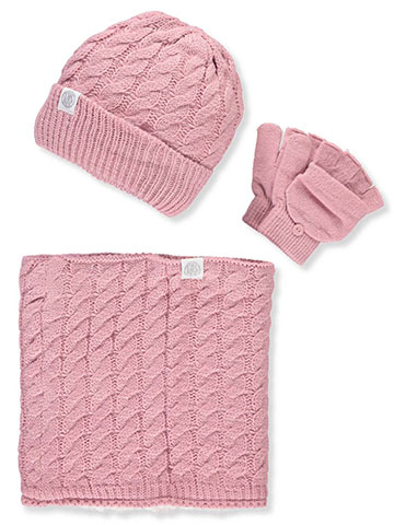 DKNY Girls' 3-Piece Winter Accessories Set - CookiesKids.com