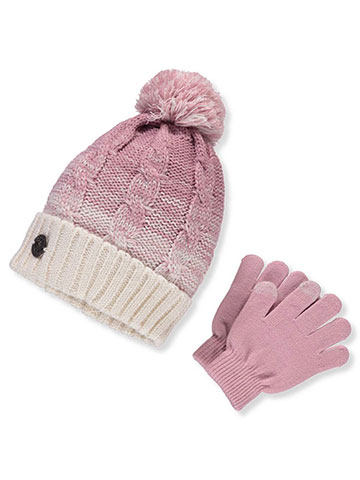DKNY Girls' Beanie and Gloves Set - CookiesKids.com