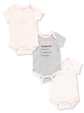 DKNY Baby Girls' 3-Pack Bodysuits - CookiesKids.com