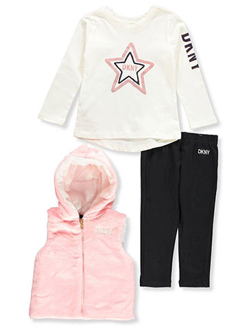 DKNY Baby Girls' 3-Piece Leggings Set Outfit - CookiesKids.com