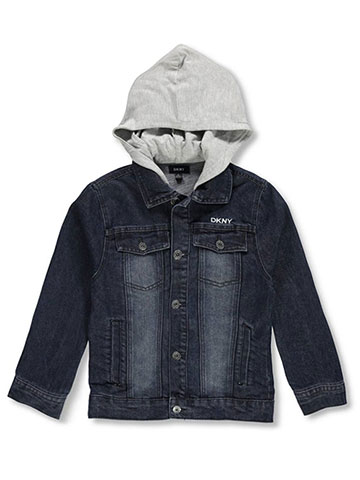DKNY Boys' Hooded Denim Jacket - CookiesKids.com