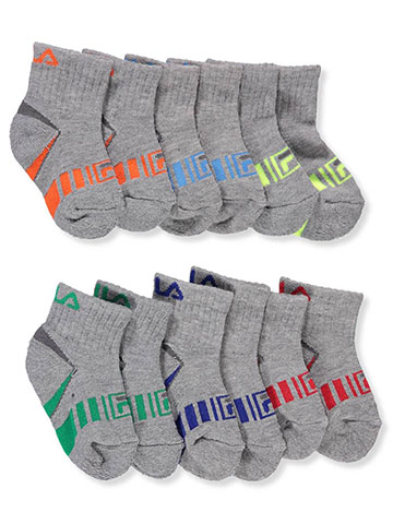 Fila Baby Boys' 6-Pack Quarter Crew Socks - CookiesKids.com