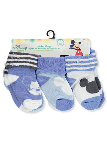 Disney Mickey Mouse Baby Boys' 6-Pack Ankle Socks - CookiesKids.com