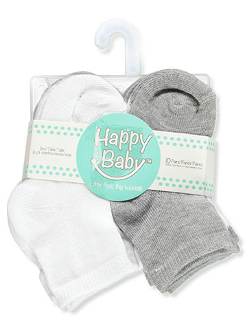 Happy Baby Unisex Baby 10-Pack Socks - CookiesKids.com