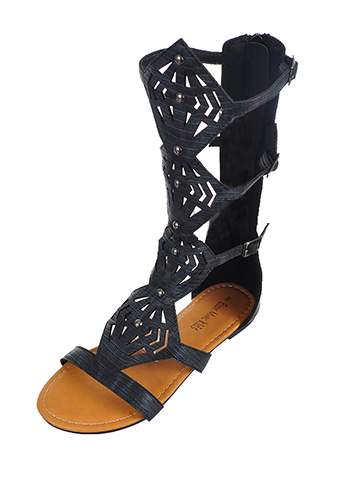 Eddie Marc Girls' Gladiator Sandals (Sizes 11 – 4) - CookiesKids.com