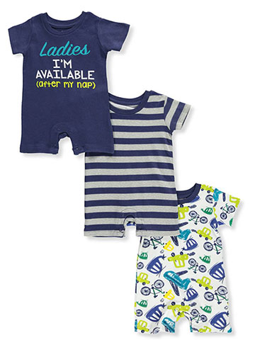 Mini B Baby Boys' 3-Pack Rompers - CookiesKids.com