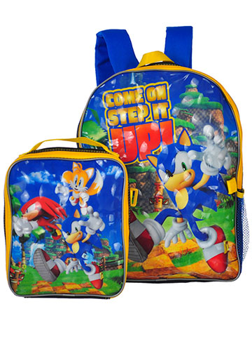 Sonic the Hedgehog Backpack and Lunchbox - CookiesKids.com