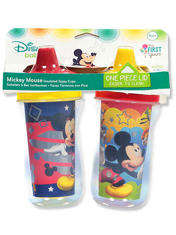 Disney Mickey Mouse 2-Pack Insulated Sippy Cups (9 Oz.) - CookiesKids.com