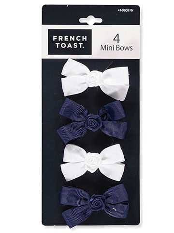 "French Toast ""Knotted Bow"" 36-Pack Clip-On Barrettes - CookiesKids.com"