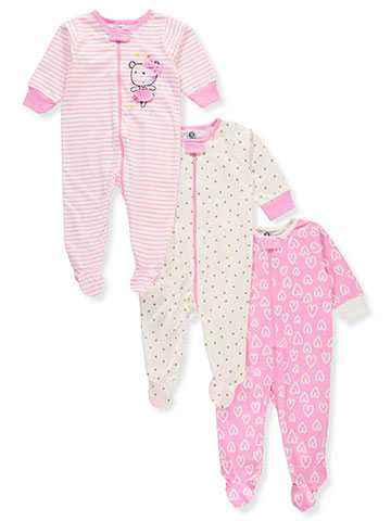Gerber Baby Girls' 3-Pack Footed Coveralls - CookiesKids.com