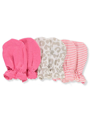 Gerber Baby Girls' 3-Pack Scratch Mitts - CookiesKids.com