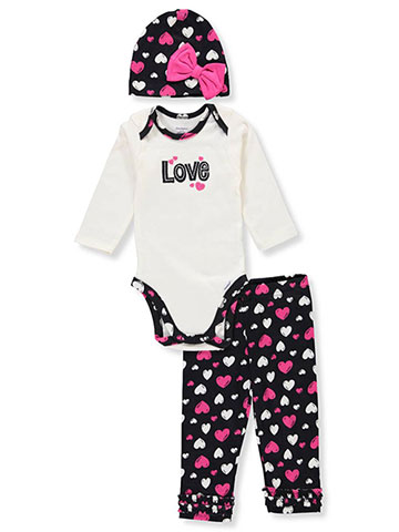 Gerber Baby Girls' 3-Piece Leggings Set Outfit - CookiesKids.com