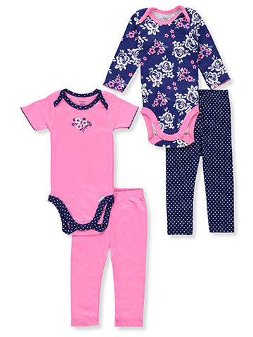Gerber Baby Girls' 4-Piece Mix-and-Match Set - CookiesKids.com