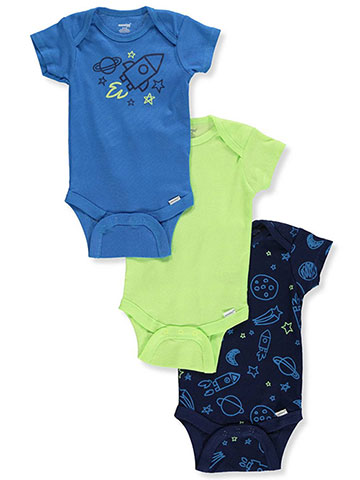 Onesies Baby Boys' 3-Pack Footed Coveralls - CookiesKids.com